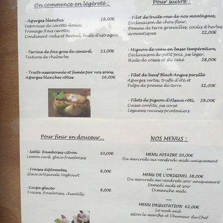 Restaurant L'Originel: Voici les horaires d'ouvertures Bon appétit