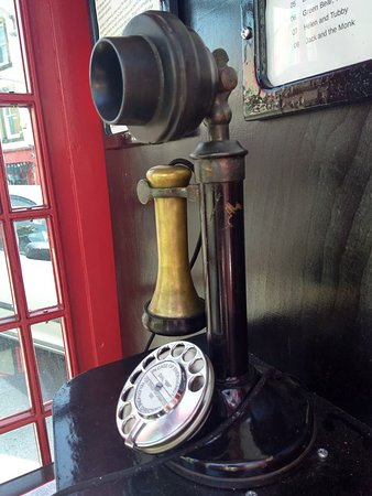 Settle, UK: Retro phone in the Listening Gallery