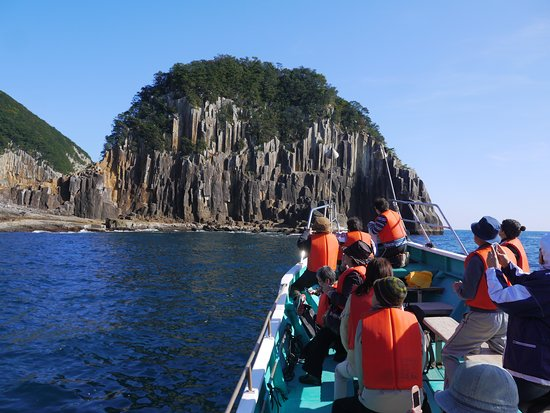 Kumano, Japan: 遊覧船からしか見れない大迫力の絶景