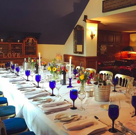 Oran Mor: Dining table set for 20 guests