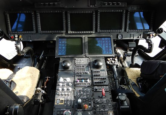 RAF Cosford Air Show: Inside a helicopter.