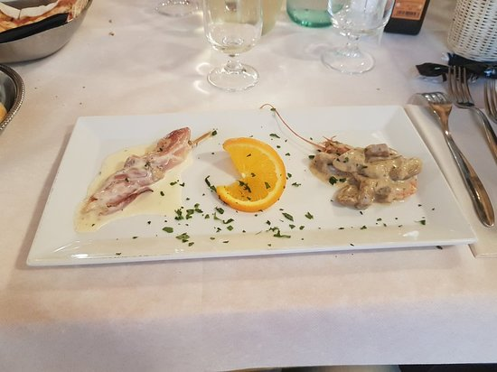 Consandolo, Itálie: Menù di pesce
