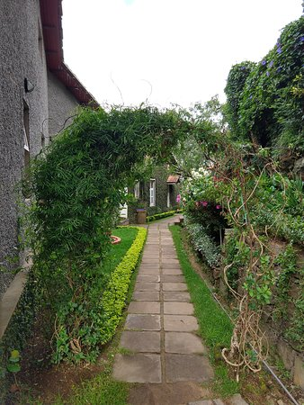 Villa Retreat: Flowery Pathway
