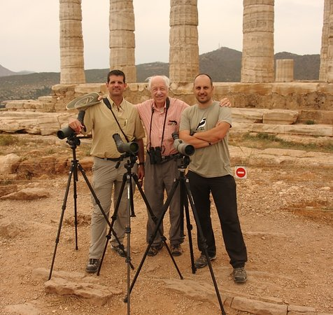 Greece Bird Tours: Barry, Victor and Spyros, with their birding gear