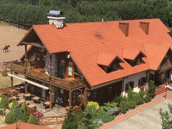 Elgiszewo, Poland: Speisesaal (vom Aussichtsturm aufgenommen)