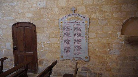 Eglise de Notre Dame de l'Assomption: Homenagem aos mortos na guerra