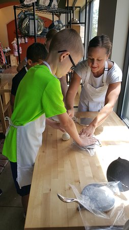 The Learning Kitchen: Kids classes are great fun.  Homemade tortillas being made here.