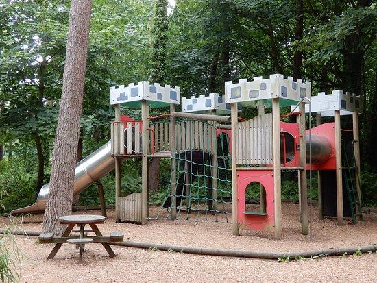 """Plas Newydd House and Garden: Children""""s playground area."""