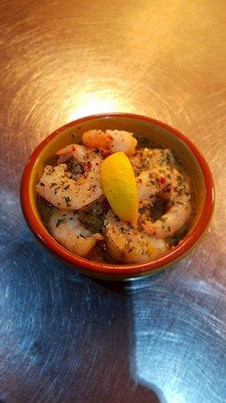 Rioja Tapas Restaurant: Our lush prawn dish