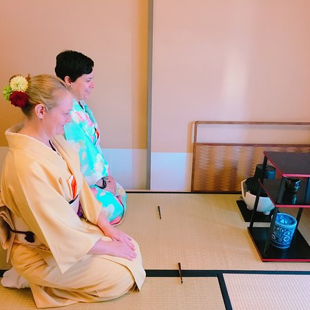 Tessen Tea Ceremony: Observing tea utensils used to prepare tea for guests.