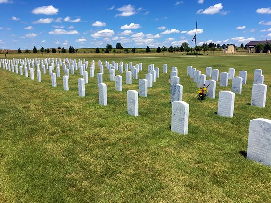 Alliance, NE: A section of headstones