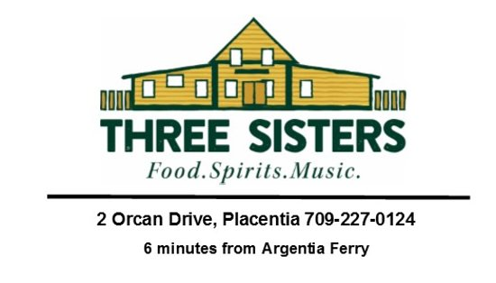 The Three Sisters Pub: Great pub and restaurant 6 minutes from Argentia Ferry