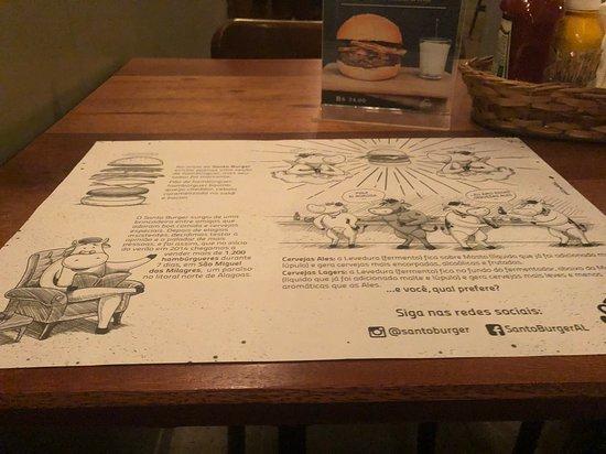 Santo Burger n Beer: Unterlage