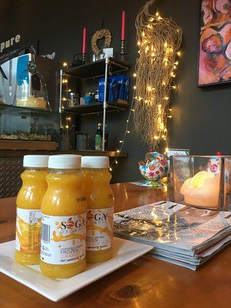 Doubleshot Coffee Bar: Doubleshot is stocking the best orange juice in the world! Export OJ