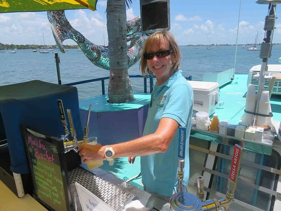 LeBarge Tropical Cruises: One of crew - our bartender as well