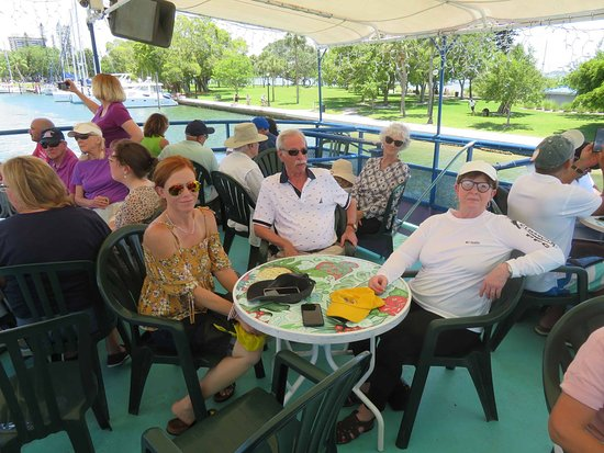 LeBarge Tropical Cruises: We sat on the 2nd level. A wonderful sea breeze under the canapy