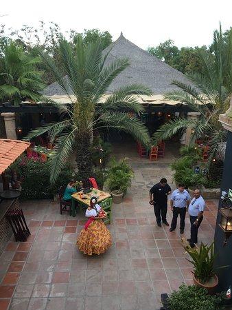 Don Sanchez Restaurant: the courtyard