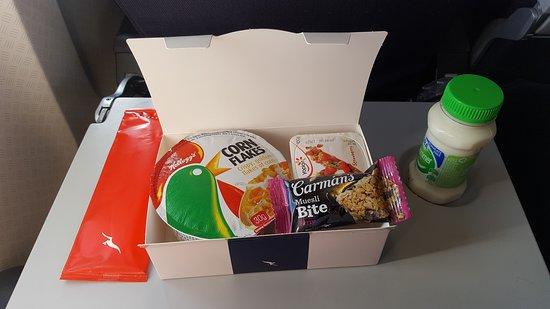 Qantas: Refrigerio ofrecido en vuelo doméstico