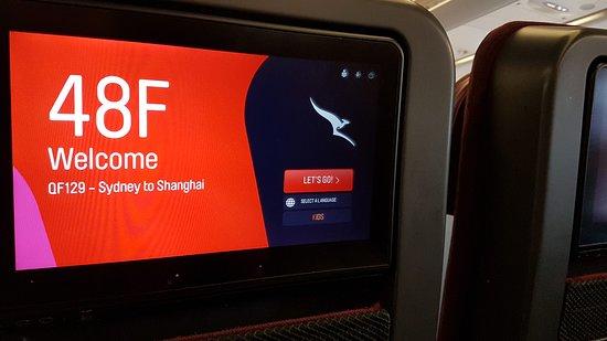 Qantas: Entretenimiento a bordo