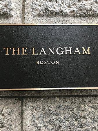 The Langham, Boston: signage