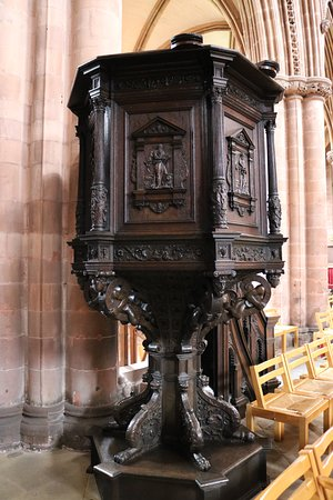 Carlisle Cathedral: 16th century pulpit