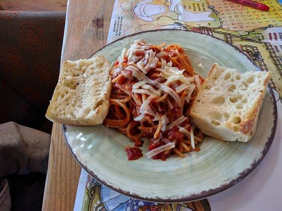 Farm House Restaurant at Breckenridge Brewery: Child's Pasta