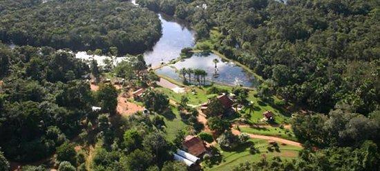 Sao Jose do Rio Claro, MT: Região Amazônica- vista aérea da Pousada Jardim da Amazônia
