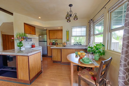 Gingerbread House kitchen area Spyglass Maui Rentals