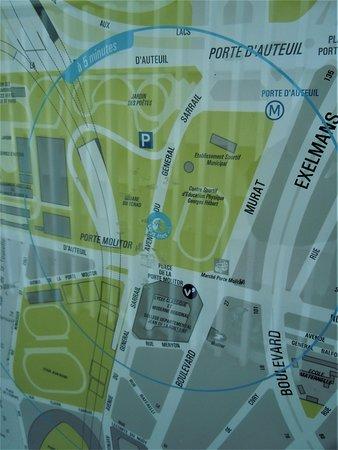 Square du Tchad: Plan du quartier