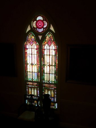 The 1927 Lake Lure Inn and Spa: one of the stained glass windows