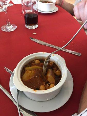 Restaurante de La Baguala: Cazuela de mariscos, casi un puré.