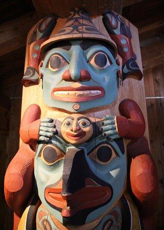Alaska Native Heritage Center: Tlingit House Post: Respect for Self