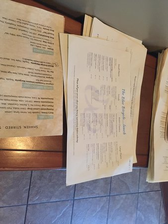 Blue Bicycle: menu