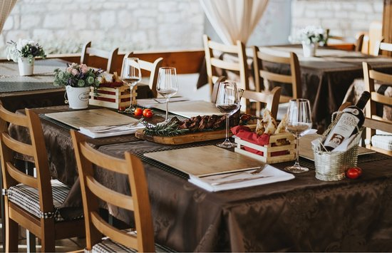 Pizza & Steak house RIVA Rogoznica: Table with perfect Cowboy steak