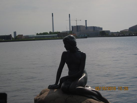 The Little Mermaid: A bronze statue of a mermaid