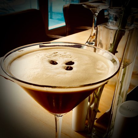 Carnon Downs, UK: Espresso Martini cocktail with Cornish Coffee hand roast Gold premium