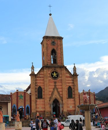 Raquira, Colombia: Church in Ráquira, Colombia, January 2018