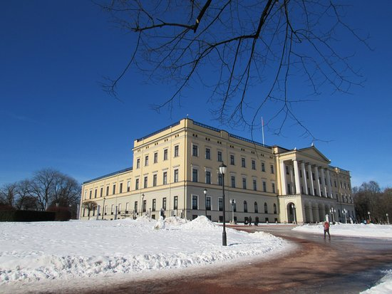Vaktskifte: Royal Palace in the snow