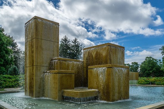 Hamann Rose Garden: Bicentennial Cascade Fountain