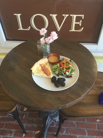 The Picnic Basket: Daily Quiche with a fresh salad and our peach dressing does the trick anytime!