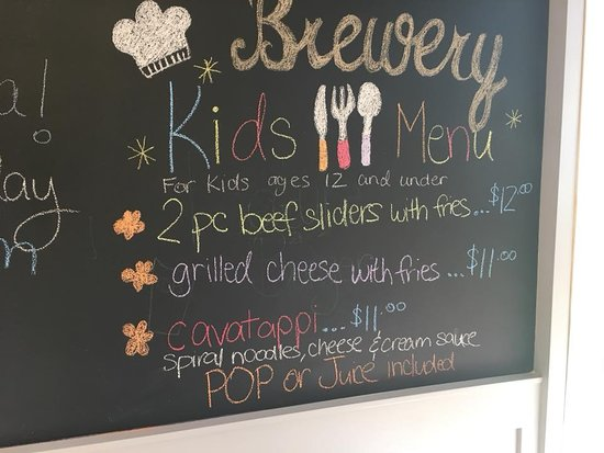 Cottage Bistro: Our kids menu!