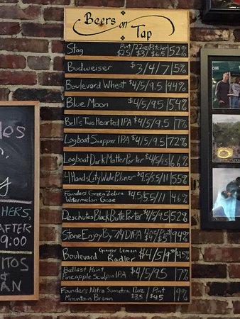 Shakespeare's Pizza: Cervejas na torneira