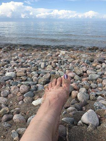 Bokonbayevo, Δημοκρατία της Κιργιζίας: Beach is rocky, bring swimming shoes