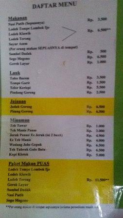 daftar harga yang ternyata super murah スレマン warung kopi