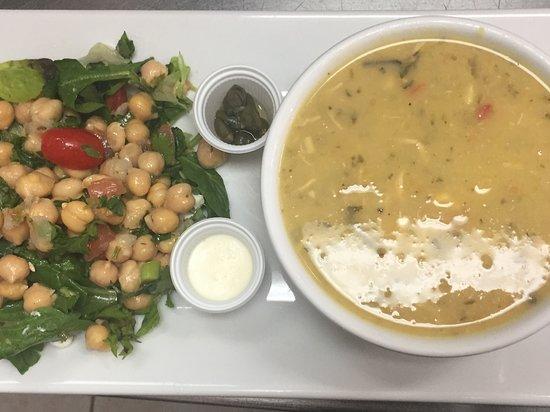Barista Cafe: Favorito!! Miércoles de Ajiaco Colombiano con ensalada de garbanzos