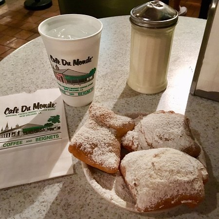 Cafe Du Monde: What everyone comes for--beignets!!