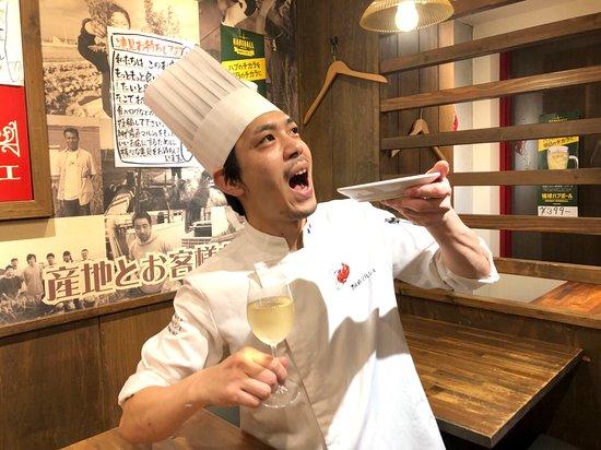 Kobe Sanchoku Marche: サッパリ白ワインもご用意!