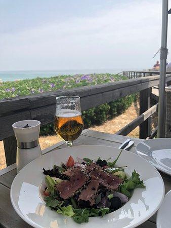 Seared tuna with a view
