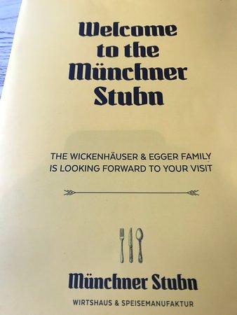 Münchner Stubn: Meny