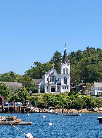 Beautiful Boothbay Harbor Church Picture Of Cap N Fish S Cruises Boothbay Harbor Tripadvisor